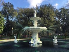 top 'o the morning to you Savannah! as the fountain in Forsyth Park spits green the city prepares itself for St Paddy's Day tomorrow - the second largest party in the country.  #themaritimelemonadestand #sailing #adventure #aricsqueen #odyssey #adventure #boatlife #travel #tinyhomes #sailboat #ocean #outdoors #wanderlust #boat #eastcoast #instatravel #travelgram #traveling #instagood #instaboat #savannah #georgia #stpatricksday by themaritimelemonadestand