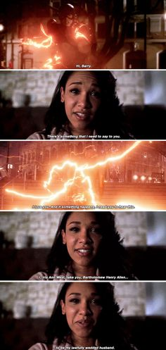 """If something happens, I need you to hear this: I, Iris Ann West, take you, Bartholomew Henry Allen, to be my lawfully wedded husband"" - Iris West's video message #TheFlash"