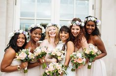 flower hair band bridesmaids - Google Search