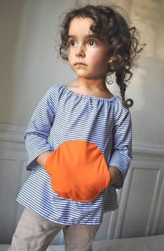 PDF pattern- Magic pocket blouse - 12m up to 4T - Easy sewing -. $5.50, via Etsy.