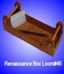 "Renaissance Box loom (peg and glue construction) Comes with a 8"" Rigid heddle (8 or 10 dent)  http://www.lucets.com/weaving/box.jpg"