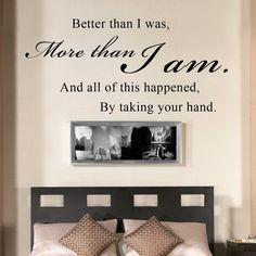 Wall Decal Vinyl Sayings Bedroom Decor