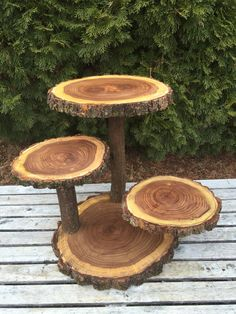 Large Log Elm Wood Rustic Cake 60 Cupcake Collapsible Stand Wedding party shower wooden, donut, lumberjack party, boho, wild things are Cupcake Stand Wedding, Cake And Cupcake Stand, Cupcake Cakes, Wooden Wedding Cake Stand, Rustic Cupcakes, Rustic Cake, Wooden Cupcake Stands, Deco Champetre, Lumberjack Party