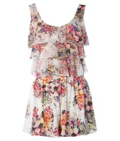 floral print romper - have always wanted one though I doubt I could pull it off