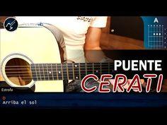 Como tocar Puente de GUSTAVO CERATI en Guitarra (HD) Tutorial COMPLETO - YouTube