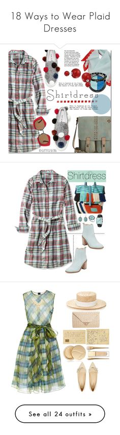 """18 Ways to Wear Plaid Dresses"" by polyvore-editorial ❤ liked on Polyvore featuring waystowear, Plaiddresses, L.L.Bean, Patricia Nash, Joshua's, Echo, Sephora Collection, Bling Jewelry, Marni and Diego Binetti"