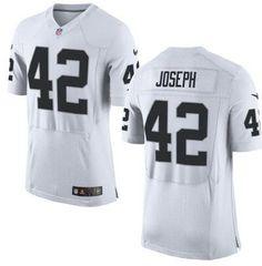 Men's Oakland Raiders #42 Karl Joseph Nike White Elite 2016 Draft Pick Jersey