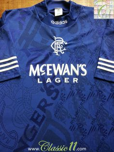 Relive Glasgow Rangers' 1994/1995 season with this vintage Adidas home football shirt.