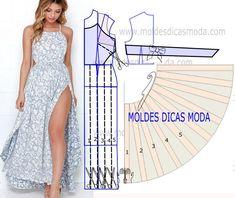 Analise com a devida atenção o desenho do molde de vestido de verao para fazer a leitura de forma correta e de modo a executar o molde sem erros. Este passo é importante para entender o processo da tr