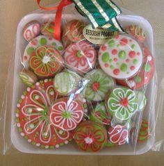 biscoito decorado bandeja cores Natal