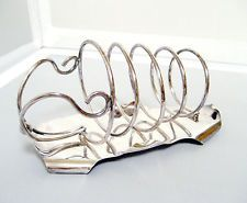 VTG ENGLISH AESTHETIC SILVERPLATED TOAST RACK GRACEFUL SPIRAL LEAF LIKE BASE