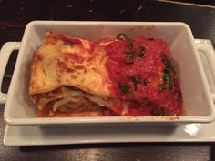 The best lasagna in NYC! From Acqua on peck slip