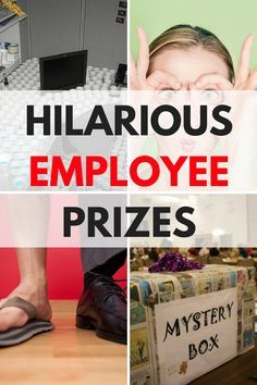 Hilarious and funny employee prizes that will boost the morale at work! Bring a sense of humor to the work field and brighten someones day with this hard not to laugh at incentives from a boss or co-worker! Employee Rewards, Incentives For Employees, Employee Morale, Staff Morale, Employee Appreciation Gifts, Employee Gifts, Fun Awards For Employees, Employee Incentive Ideas, Reward And Recognition