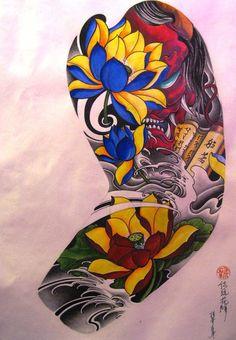 Тату эскизы, Японские татуировки, карп кои, тату драконы.   117 фотографий