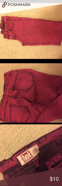 Red skinny jeans ! Super Comfortable ! Red skinny jeans! Worn once ! Perfect condition! Jeans Skinny