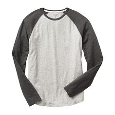 Gap Men Lived In Baseball Tee (£17) ❤ liked on Polyvore featuring men's fashion, men's clothing, men's shirts, men's t-shirts, mens baseball tee shirts, mens vintage shirts, gap mens t shirts, mens color block shirt and men's curved hem t shirt