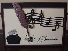 Crea Jackie: Verjaardagskaart: Let there be music