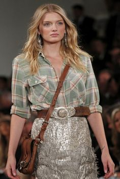 All-American style, Ralph Lauren flannel and fringe