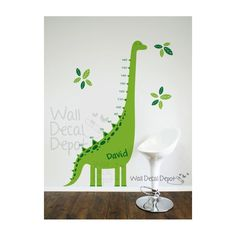 Muursticker groeimeter dinosaurus - Love For Deco