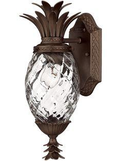 Porch Light Fixtures. Plantation Pineapple Sconce In Copper Bronze