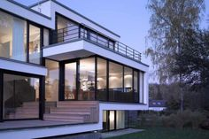 House Zochental is a home designed by Liebel Architekten BDA on a steep slope of land, in Aalen, Germany.