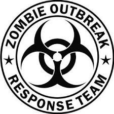 Zombie Stickers - Totally want to put this on my car, right by my District 12 sticker