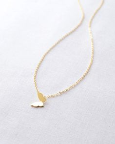 Butterfly Necklace by Olive Yew.  This is sweet butterfly necklace makes a sweet bridal party gift.
