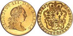 George III, Pattern Proof Half-Guinea, first laurel head, 1763, by Richard Yeo.