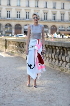 Dior on the streets of Paris