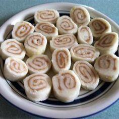 Friandises irlandaises à la pomme de terre et au beurre de cacahuète.