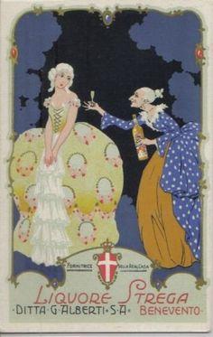 1930ca donnine liberty (liquore Strega - Benevento)