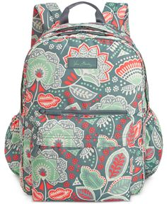 Water bottle, paper, pens and tablet . there's a place for everything inside this lightweight Vera Bradley backpack styled in a signature cheery print. Pretty Backpacks, Cute Backpacks For School, School Shopping, Vera Bradley Backpack, Vera Bradley Baby, Cute Bags, Backpack Bags, Backpack Online, School Bags