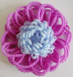 Written directions on post---Flower Looms: Puffy Centred Flowers