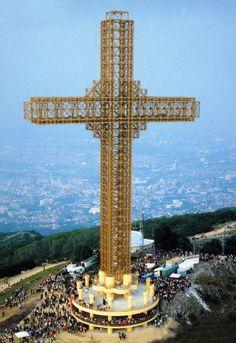 The Millenium Cross on the Vodno mountain near Skopje Macedonia Skopje, Macedonia Greece, Albania, Montenegro, Bulgaria, Bósnia E Herzegovina, Republic Of Macedonia, World Cities, Eastern Europe