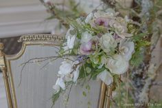 Wedding season is upon us, a good time to revisit flower designs for brides at the Four Seasons Hampshire earlier this year. Alongside an ethereal white wedding theme, Zita created a magical woodla…