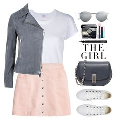 """Untitled #454"" by jovana-p-com ❤ liked on Polyvore featuring RE/DONE, H&M, Marc Jacobs, Converse, Reiss, Ray-Ban, Christian Dior, Kershaw, NARS Cosmetics and MAC Cosmetics"
