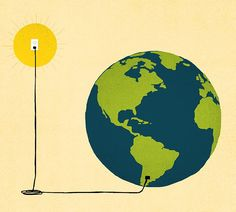 David Senior created this image for Purdue Alumnus magazine about how alumni are impacting the world with their work on sustainable energy.