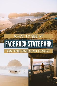 Face Rock State Park in Bandon Oregon is a hidden gem, filled with beautiful sea stacks, ocean strolls, and incredible sunsets. We're sharing exactly what you can see here, the best times to visit, and others things to do on the Oregon coast nearby! Save this for your next Oregon Coast road trip! #PNW #oregon #oregoncoast #bandonoregon #travel #travelblog #pacificnorthwest Oregon Coast Camping, Oregon Travel, Pacific Coast Highway, Highway Road, Bandon Oregon, Ecola State Park, Rockaway Beach, Cascade Mountains, Cannon Beach