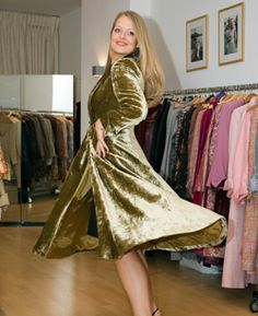 Beautiful silk velvet coat by Beau Monde