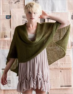 Wintertime knits---Soft Kid Wrap via Interweave