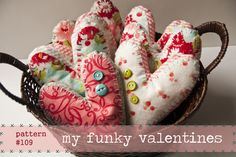 Funky Valentine hearts - free download