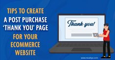 "#Revalsys #CreatingPossibilities #Ecommerce #ThankYouPage Our latest blog post: Tips To Create A Post-Purchase ""Thank You"" Page For Your Ecommerce Website Corporate Presentation, Ecommerce, Website, Create, Business, Tips, Store, E Commerce, Business Illustration"