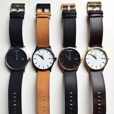 Black/Silver Leather | MVMT Watches