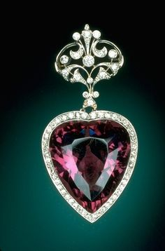 96-carat amethyst is probably from Brazil, a favorite stone of King Edward VIIs wife, Alexandra, was often included in jewelry of the era.