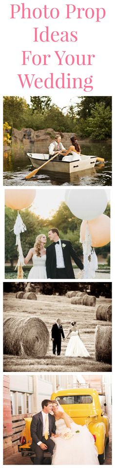 Photo Prop Ideas For Your Wedding