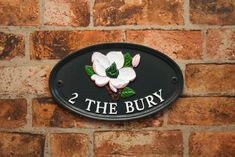 Cast sign made to order in our UK foundry Dispatched worldwide. House Name Plaques, House Name Signs, Cottage Signs, English House, Round House, Hand Painted Signs, House Numbers, Traditional House, Metal Signs