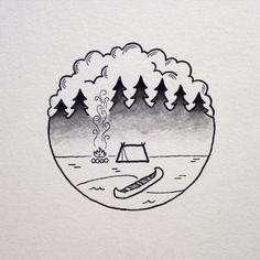 camping tattoo ile ilgili görsel sonucu