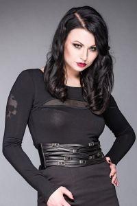 Queen of Darkness - Gothic Kunstleder Taillengürtel in Flechtoptik