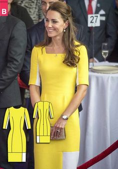 BurdaStyle - Dress like Royalty this Spring... Check out the drafting steps to achieve Kate's bright look http://ow.ly/vXXGw