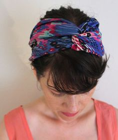 DIY tutorial to sew a chic Anthropologie inspired turban style headband